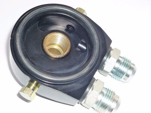 "Sandwich Adaptor Oil cooler  JACKMASTER Steel AN10 Fittings Black 3//4/"" thread"