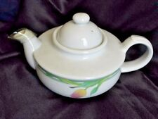 TOSCANY COLLECTION White Tea Pot Painted Rosebud Art Nouveau Style Made in Japan
