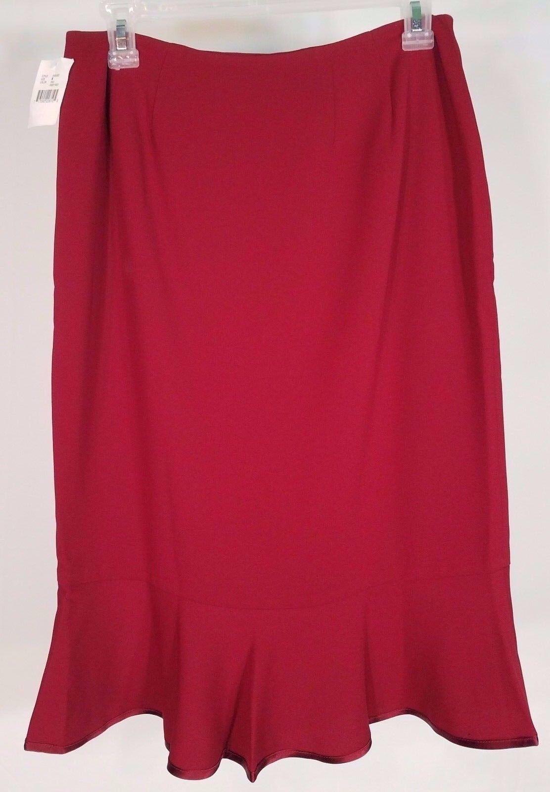 NWT Vintage Bloomingdale/'s Deep Red trumpet fit /& flare skirt ladies size 6