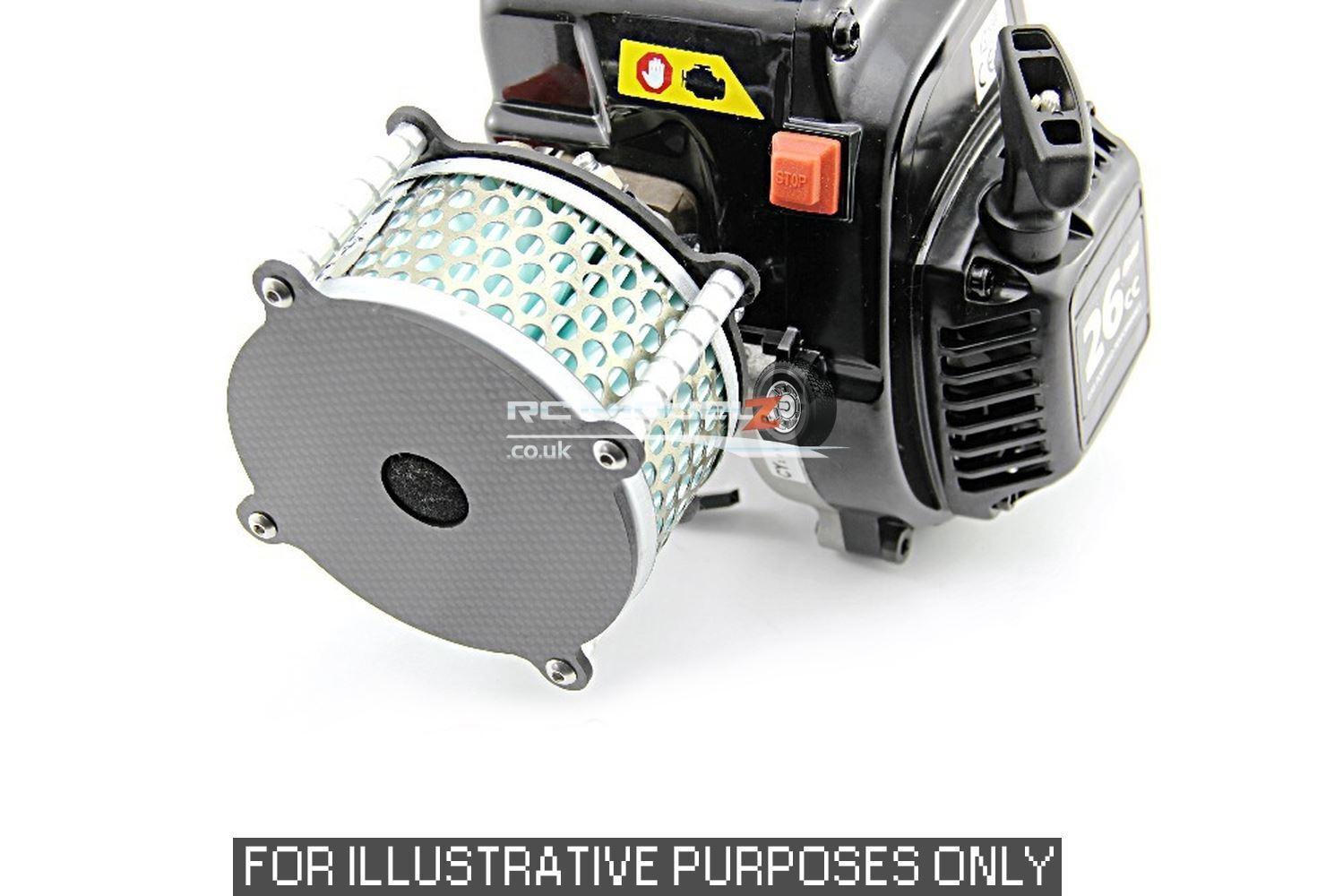 GTB racing in fibra di autobonio autobonio autobonio in lega 2 Fasi Filtro dell'aria per Losi 5ive-T, KMX2 & 30DNT 4b1571