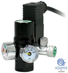 **NEW**  AQUATEK CO2 Regulator Mini (with Integrated COOL TOUCH Solenoid)