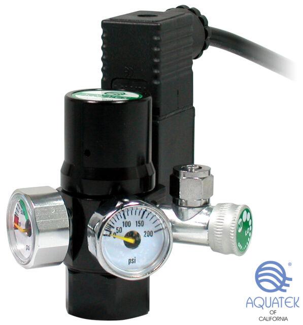 *NEW* AQUATEK Aquarium CO2 Regulator Mini with Integrated COOL TOUCH Solenoid