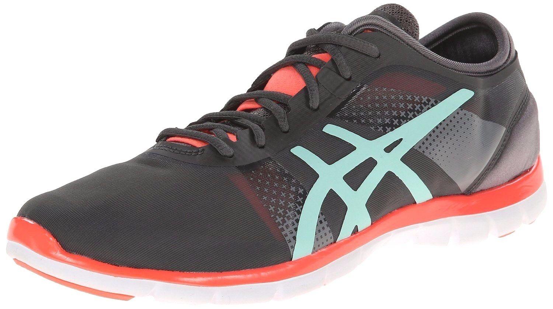 ASICS Damens's GEL-FIT NOVA Cross-Training Running Schuhe S466N Dark GREY Größe 10