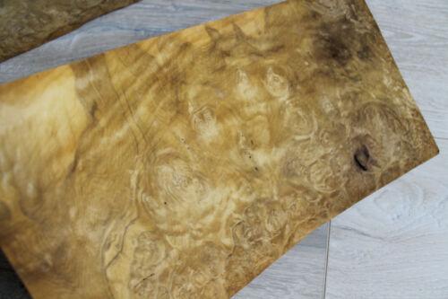 "Laurel Burl Wood Veneer  2 sheets 36.5 x 20 cm ~14.3 x 7.87/"" ~0.55mm ~1//45"