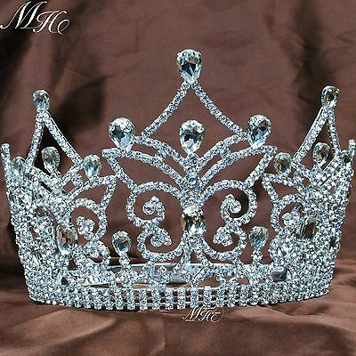 Queen Large Tiaras Bridal Wedding Crowns Rhinestone Crystal Pageant Party Prom