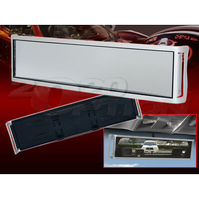 """UNIVERSAL 13"""" X 3 1/4"""" LARGE CLIP-ON SPORT STYLE REAR VIEW MIRROR ALUMINUM"""