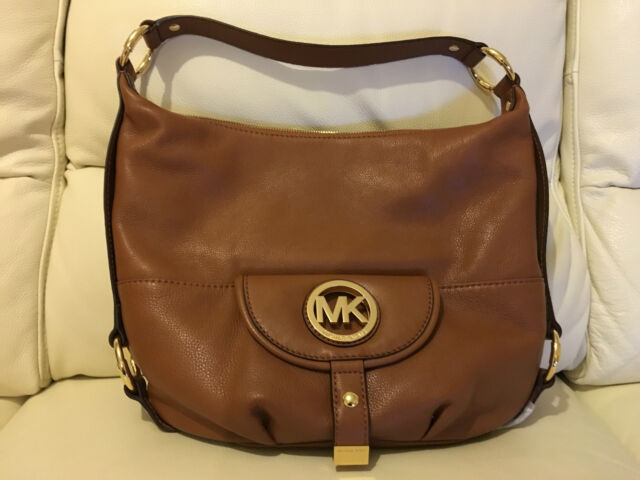 09aeacb5d423ec MICHAEL KORS FULTON LADIES BROWN LEATHER SHOULDER BAG BRAND NEW WITH TAGS  *LOOK*
