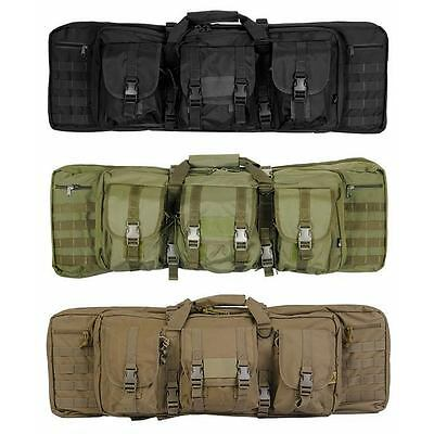 """Lancer Tactical CA 36"""" MOLLE Double Carbine Rifle Case Backpack"""
