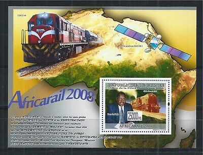 Briefmarken Verkehr & Transport Gehorsam Guinea 2008 Block 1577 ** Locomotive Railway Train Africarail 2008 Modische Muster