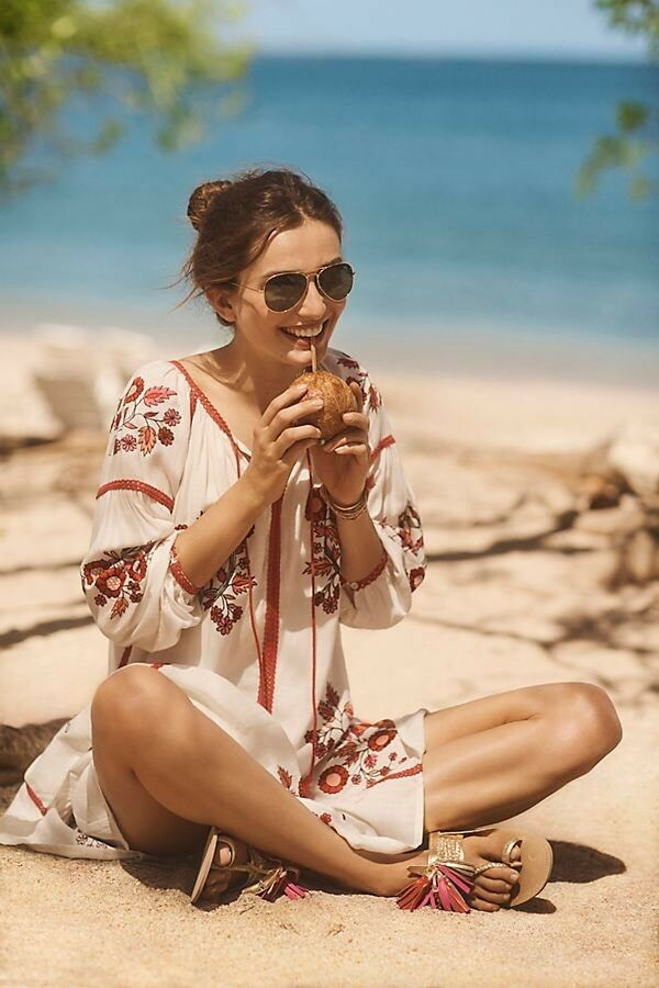 Hadley Embroiderot Tunic Dress By Ranna Gill Größe S Boho Rare NWT Retail