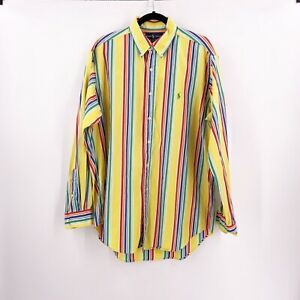 Ralph-Lauren-Mens-Dress-Shirt-Size-Large-16-1-2-Striped-Classic-Fit-Colorful