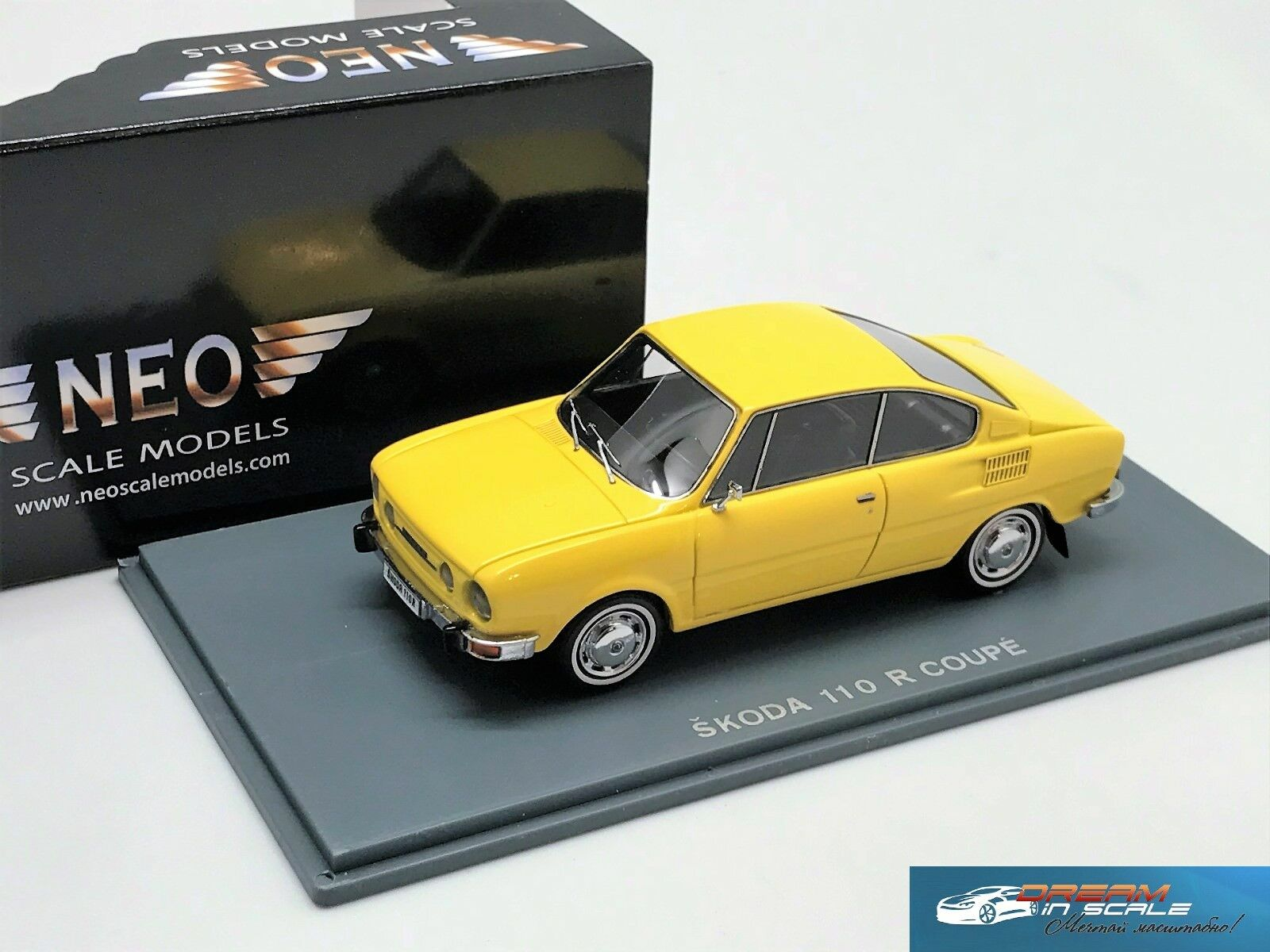 Skoda 110R Coupe yellow 1972 NEO44485 1 43