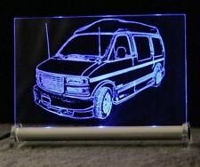 Savana Van GMC als Gravur auf LEUCHTSCHILD LED Display