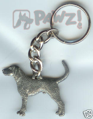 COONHOUND Coon Hound Dog Pewter KEYCHAIN Key Chain Ring