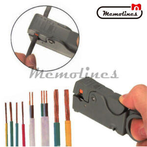 Cable Stripper Cutter Hand Tool Stripping Pliers Wire Rotary Coax Coaxial