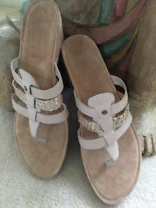 Horchata Maddie Sandals Ugg Australia Wedge Nwob In Cork 1016660 b76YgfmvIy