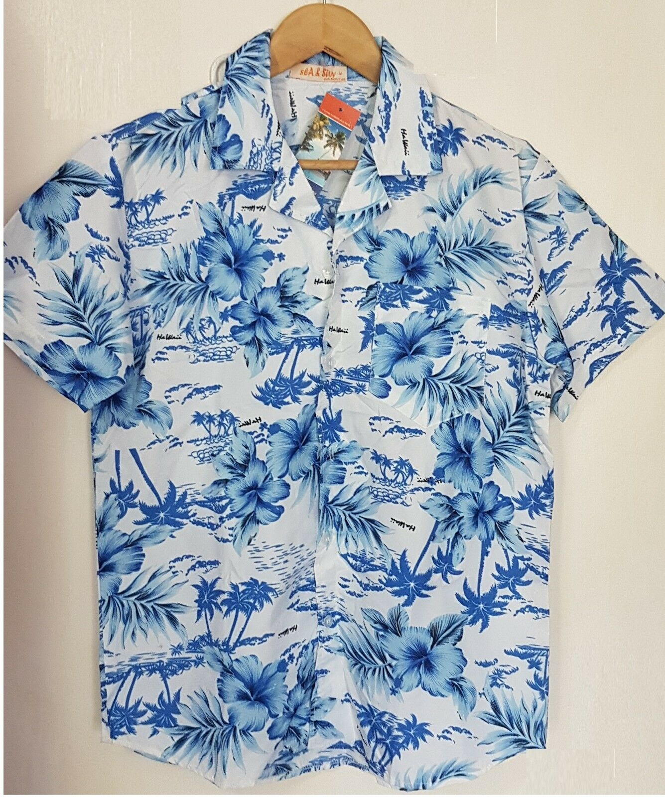 Mens Hawaiian Hawaiian Hawaiian Stag shirt plage Aloha Fête Vacances Été Fantaisie Tops Court Shirt b8fd7a