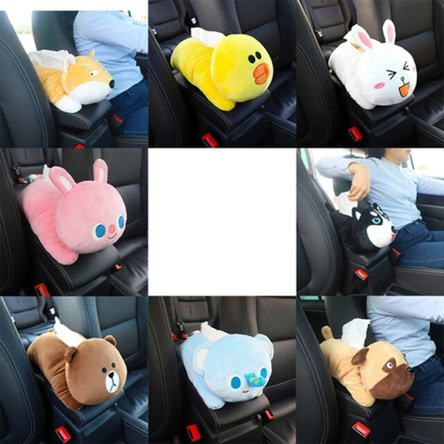 Cartoon Bear Car Accessories Seat Back Cover Holder Paper Napkin Box Tissue Box