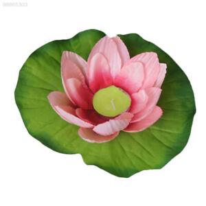 Silk Lotus Flower Floating Wishing Lamp Candle Light Decoration