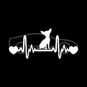 CHIHUAHUA-HEARTBEAT-Sticker-Heart-Decal-Dog-Breed-Love-Rescue-Tiny-Puppy-Cute