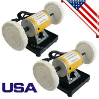 2 Usa Mini Polisher Polishing Machine Dental Jewelry Lathe Bench Buffing Grinder