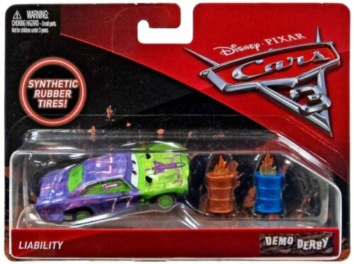 Disney//Pixar Cars 3 Demo Derby Liability with Synthetic Tires Die-Cast Vehicle