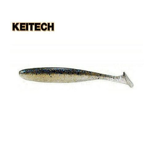 "KEITECH EASY SHINER 4/"" Scent silicone soft Jig drop shot Perch pike zander 7pcs"