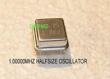 1.000000 MHZ  CRYSTAL OSCILLATOR QUALITY 5V CMOS HALF SIZE  METAL CAN