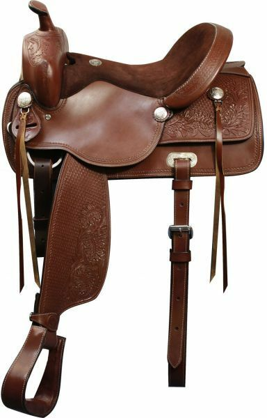 16 , 17  Double T Pleasure Style Saddle.