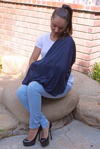 3pk LK Infinity Nursing Scarf Breastfeeding Cover Ultra Soft Grey//Navy//Black