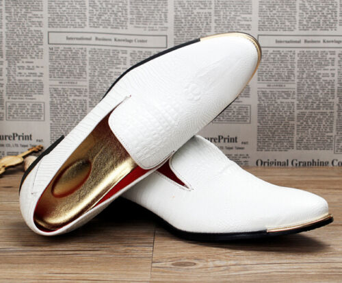 Mens Oxfords Loafers Dress Formal Wedding Business Slip On Leather Chic Shoes