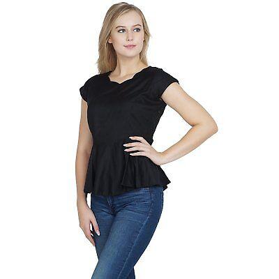 Enthusiastic Stylish Soft Cotton Black Empire Peplum Tops For Women/girls/ladies S-7xl Top Women's Clothing