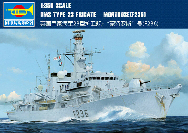 HMS TYPE 23 FRIGATE MONTpink F236 1 35 tank Trumpeter model kit 04545