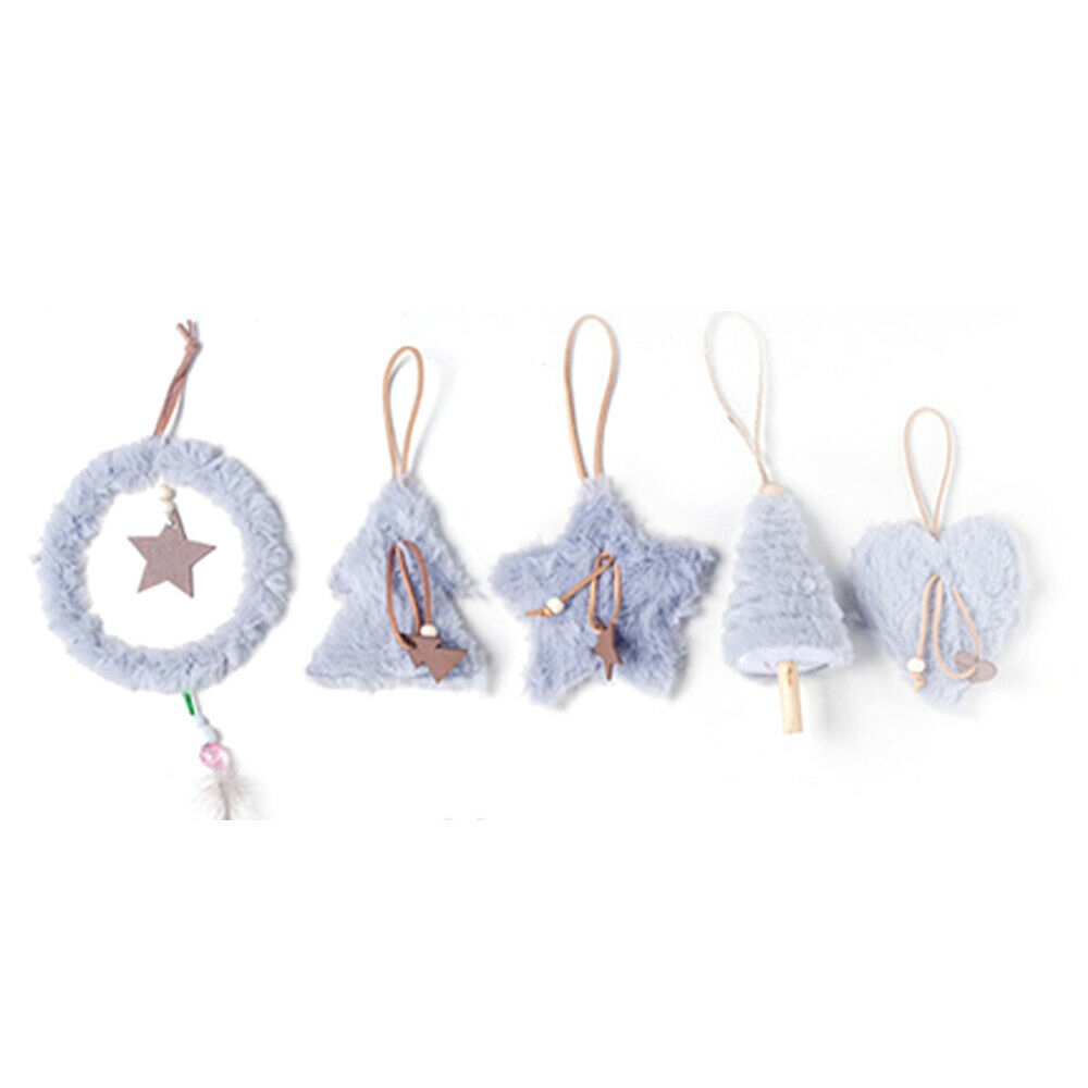 Plush Star Heart Christmas Decoration Christmas Tree Pendant Feather Ornament