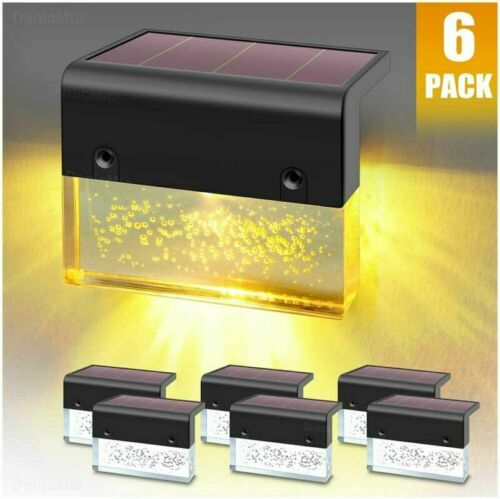 Led Solar Step Lights Outdoor for Stair Pati Fence Details about  /DenicMic Solar Deck Lights
