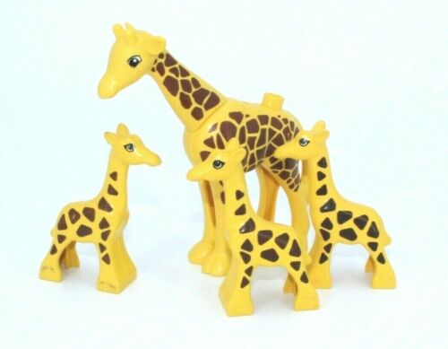 pequeño Zoo Safari circo jirafa bloques de creación l263 Lego Duplo 4 jirafas grandes