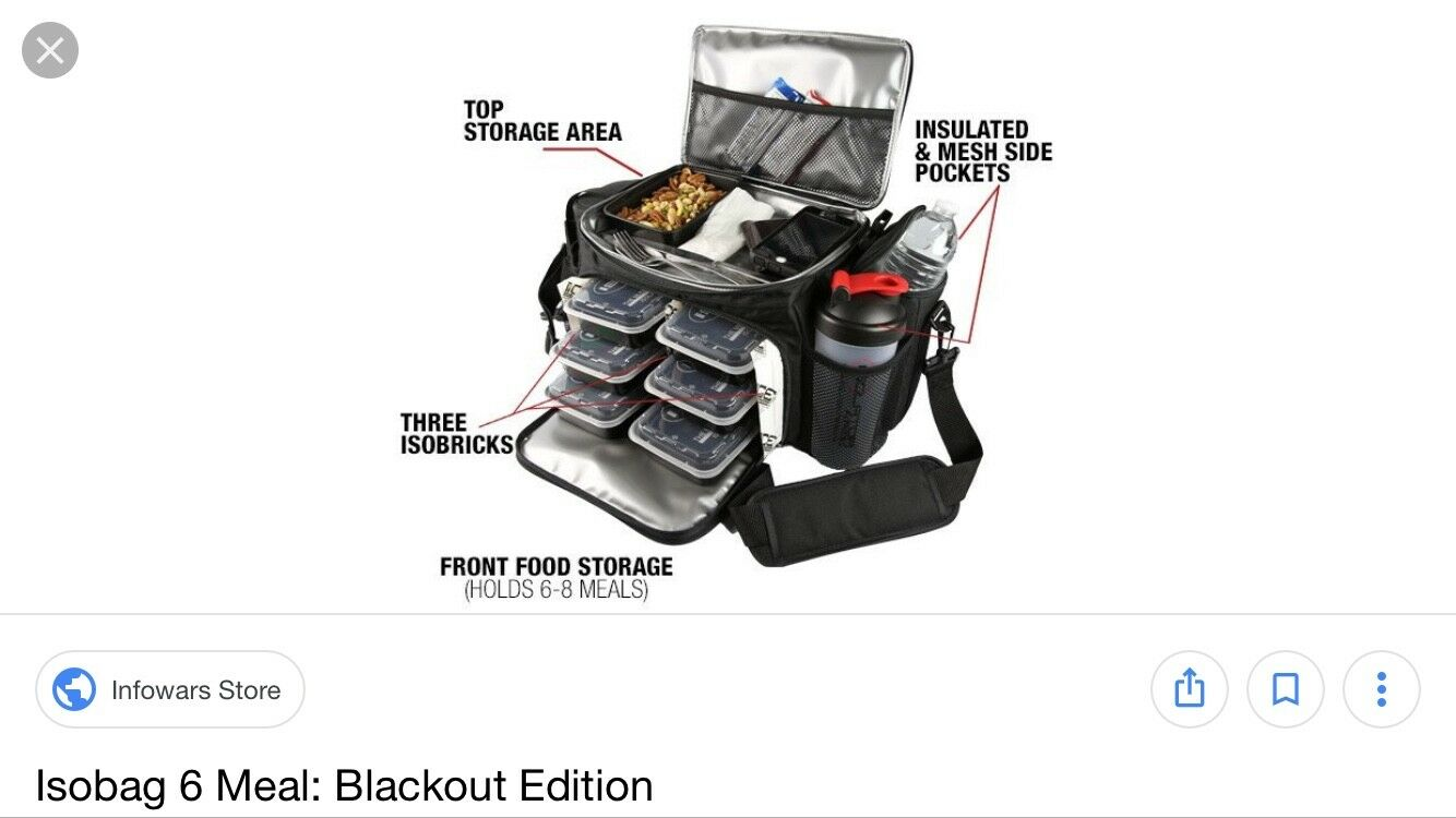 Isofitness 6 meal lunch cooler
