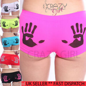 New-Womens-Ladies-Hipster-HotPants-Brief-Boxer-Shorts-Underwear-Boxers-Size-6-18