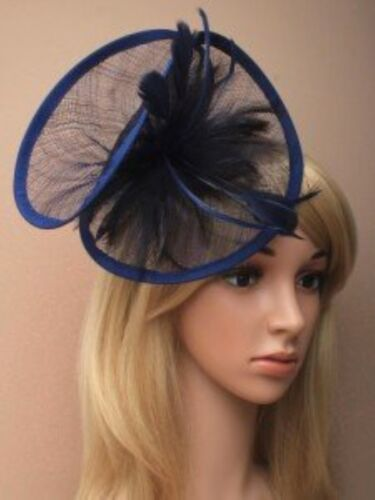 Navy Fascinator Wedding Races Prom Ascot Occasion Wholesale Headpiece Clip Band
