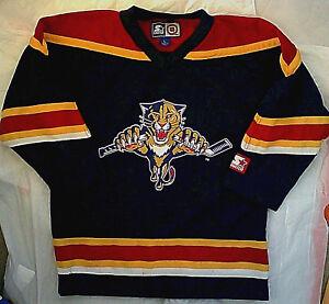 buy cheap 2c423 9e115 Details about Vintage Florida Panthers Fan Jersey Youth L m Starter hockey  nhl