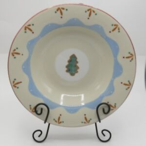 Hartstone-Confections-Pasta-Bowl-Christmas-Tree-Cookie-12-034-Serving-USA-Pottery