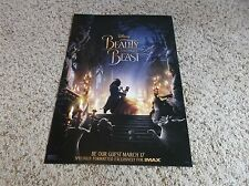 """Beauty and the Beast 2017 ORIGINAL S/S 13"""" x 19"""" IMAX Movie PROMO Poster"""