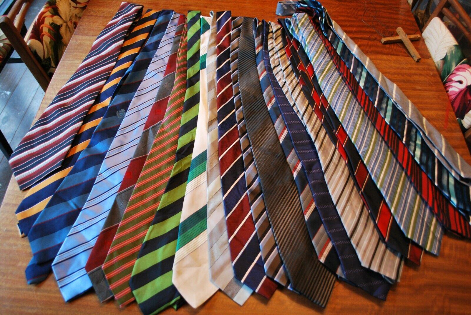 20 x various coloured striped Tie's job lot bulk buy 10