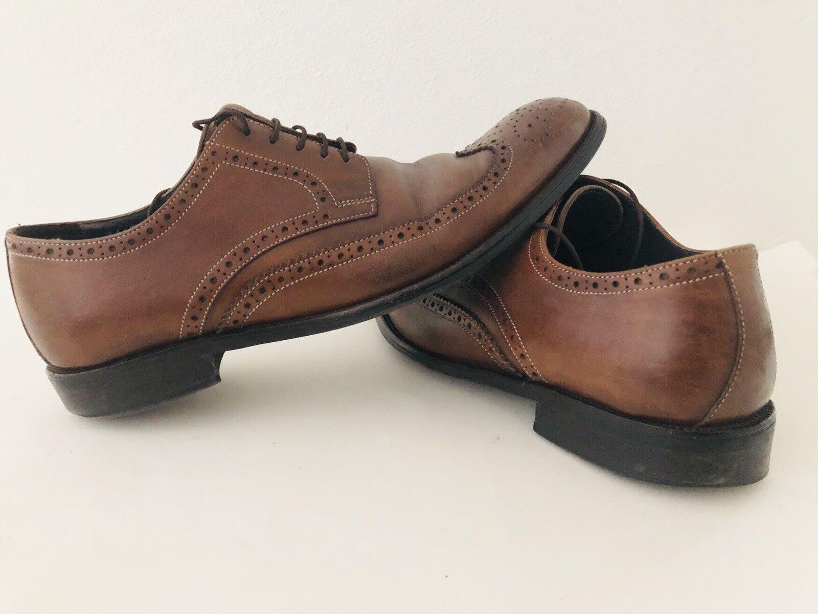 Too Boot New York Men's Cognac Wingtip Dress shoes- Size 10 In Very Good Shape