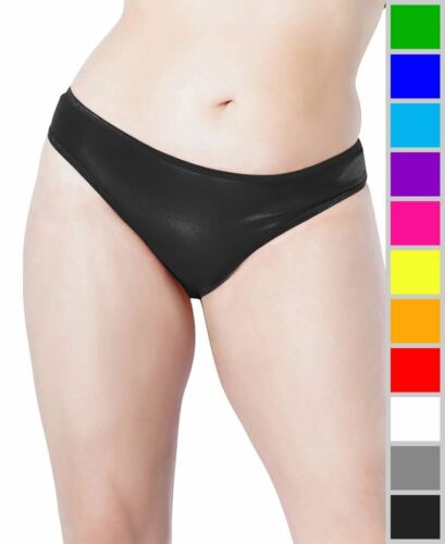New Coquette D9354X Plus Size High-Cut Wet Look Thong