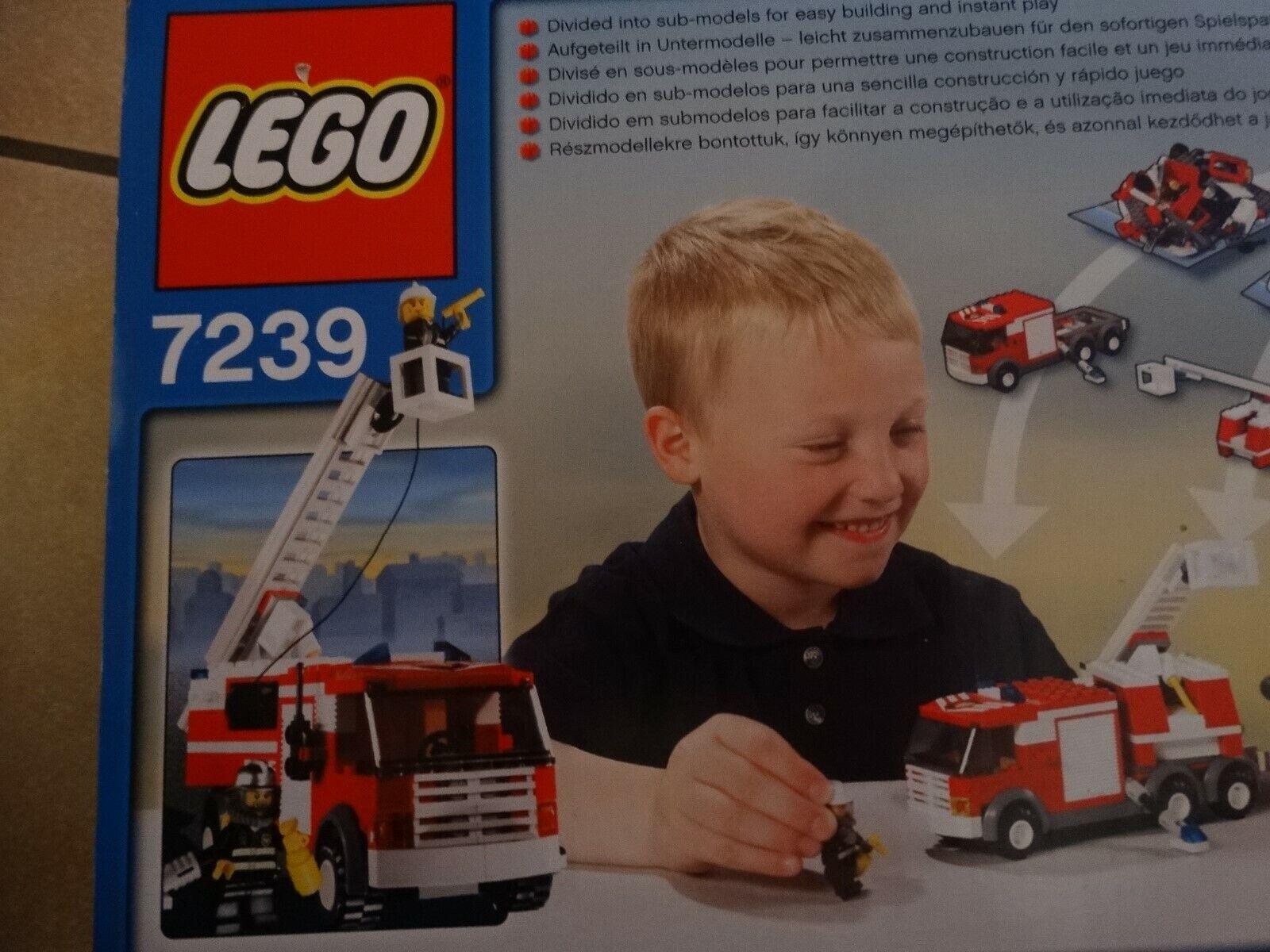 Lego city 7239 Feuerwehrfahrzeug mit Anhänger Neu und unbenutzt