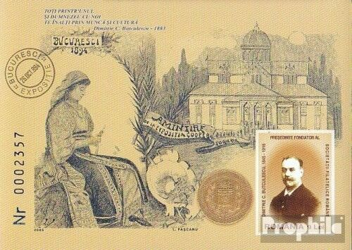 Romania Block364 complete.issue. unmounted mint never hinged 2005 Dimitrie C