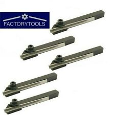 Mini Parting Tool Cut Off Holder 8 Mm Shank With Hss Blade For Lathe 5 Pcs Set