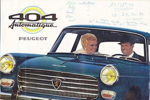 -catalogue Publicitaire Peugeot 404 Automatique MatéRiaux De Haute Qualité