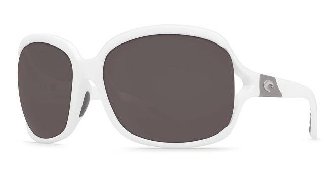 39dc525d2e Costa Del Mar Boga 580 Polarized Womens Sunglasses White gray 580p ...